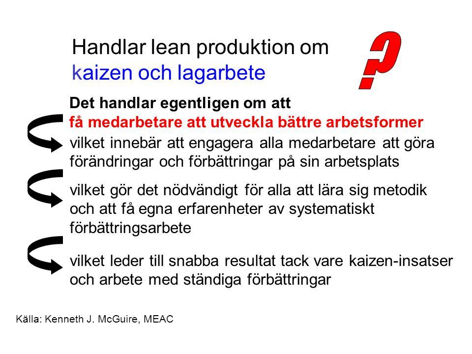 Handlar lean produktion om kaizen och lagarbete