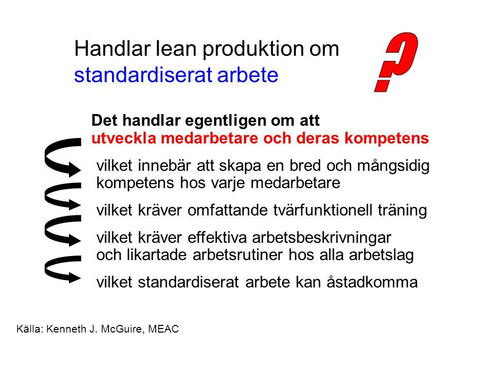 Handlar lean produktion om standardiserat arbete