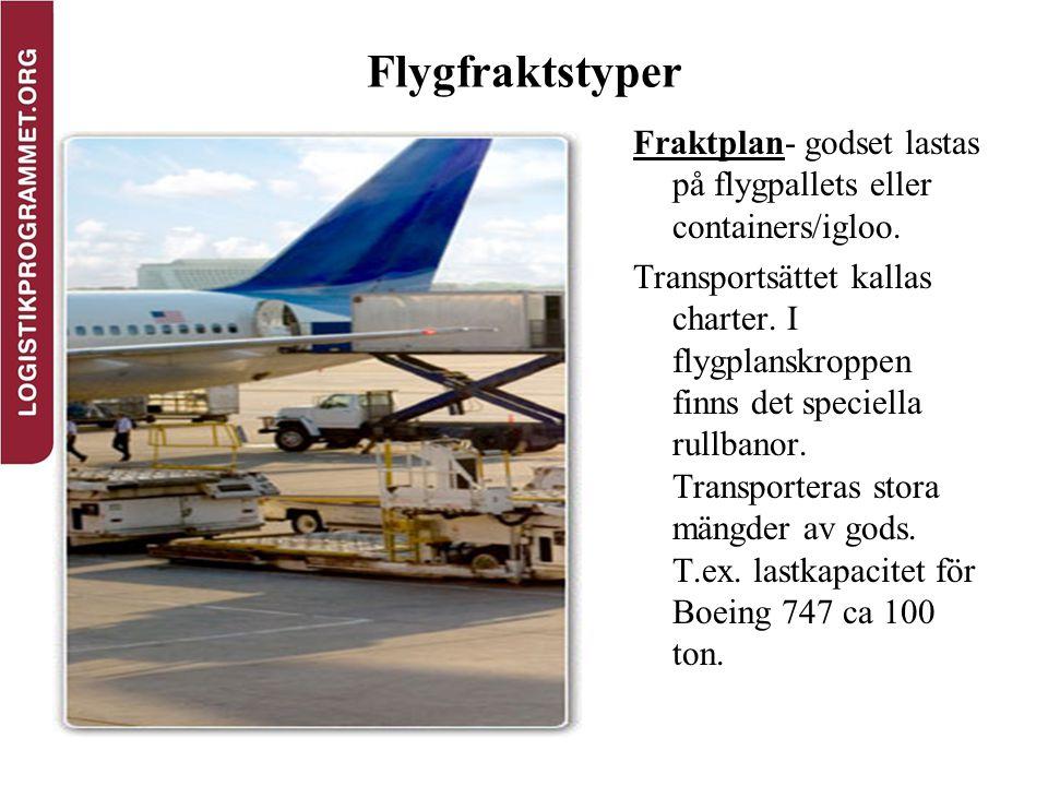 Flygfraktstyper