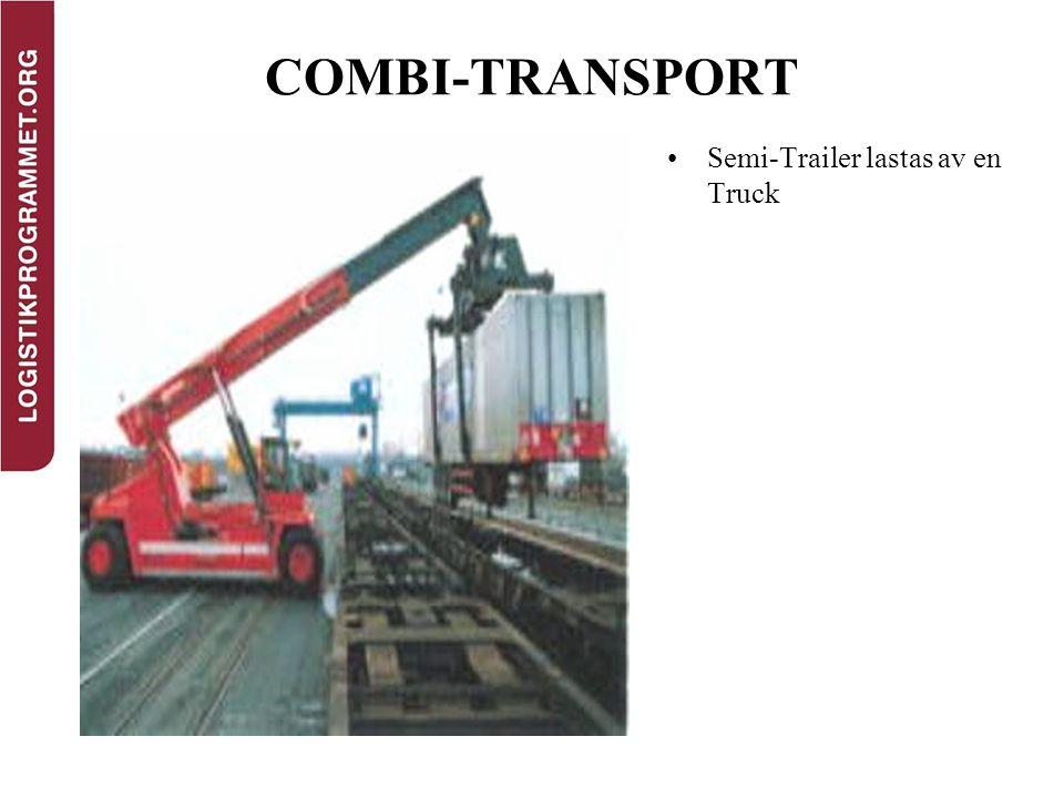 COMBI-TRANSPORT Semi-Trailer lastas av en Truck