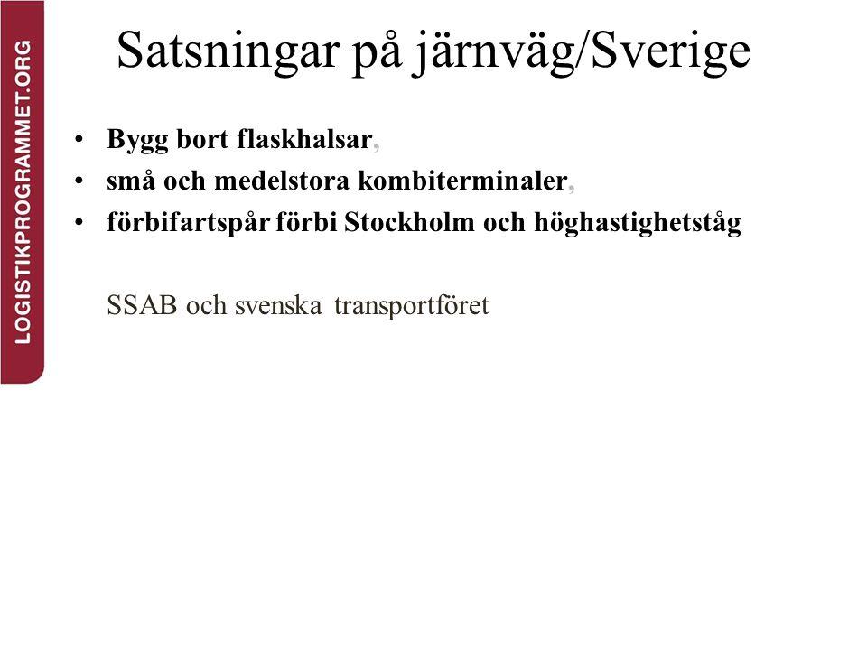 Satsningar på järnväg/Sverige