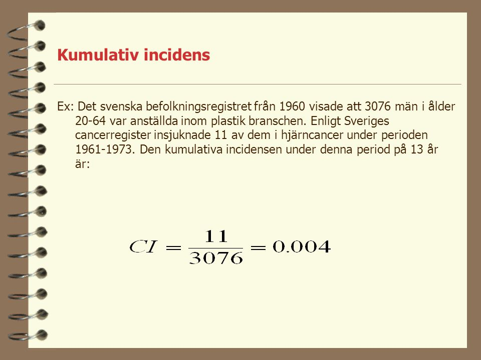 Kumulativ incidens