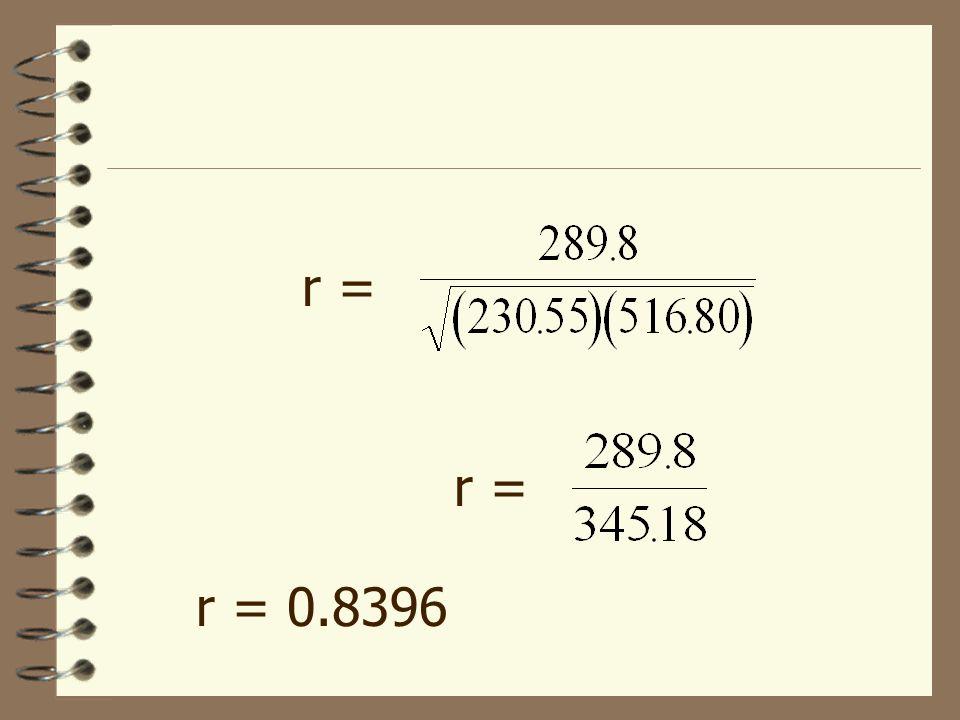 r = r = r = 0.8396