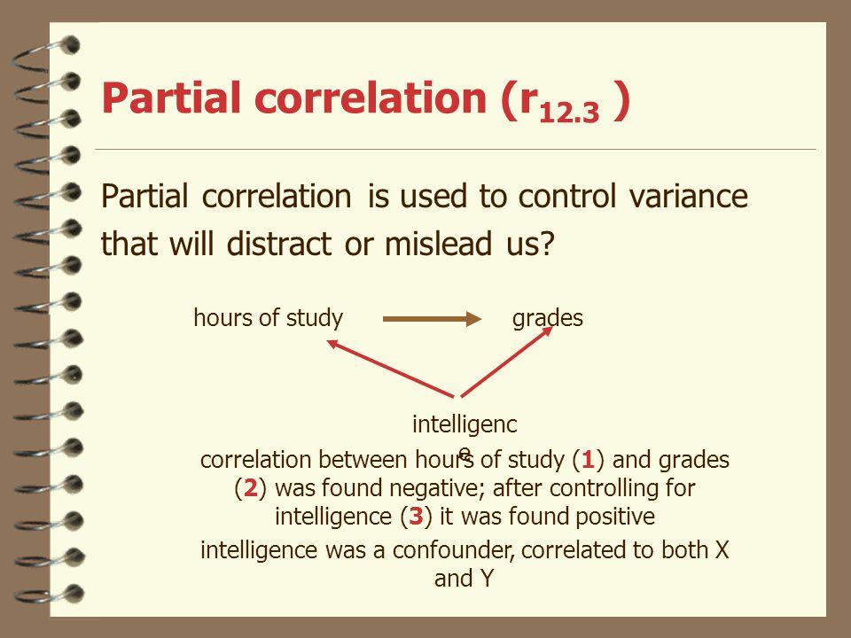 Partial correlation (r12.3 )