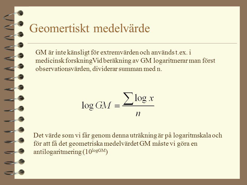 Geomertiskt medelvärde