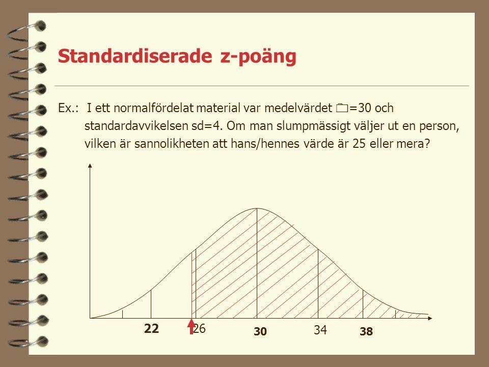 Standardiserade z-poäng