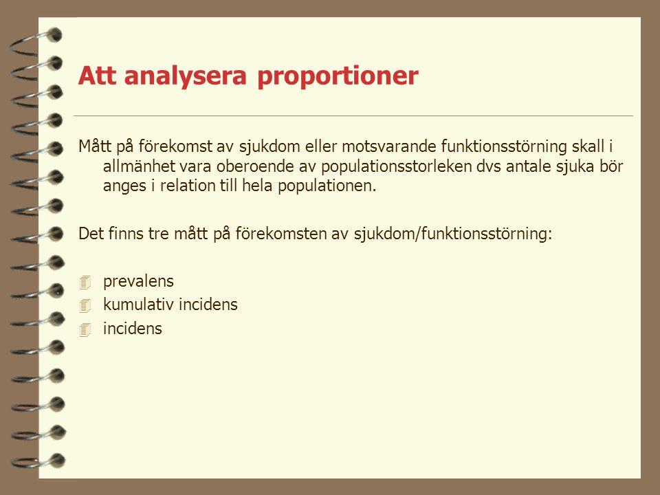 Att analysera proportioner