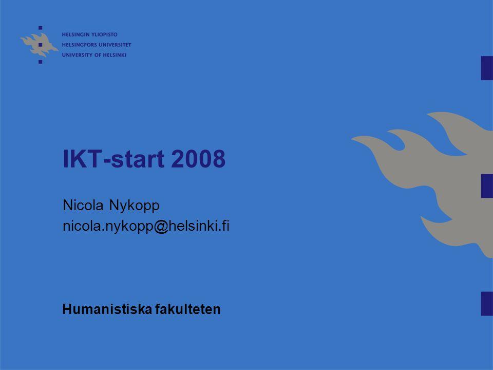 Nicola Nykopp nicola.nykopp@helsinki.fi