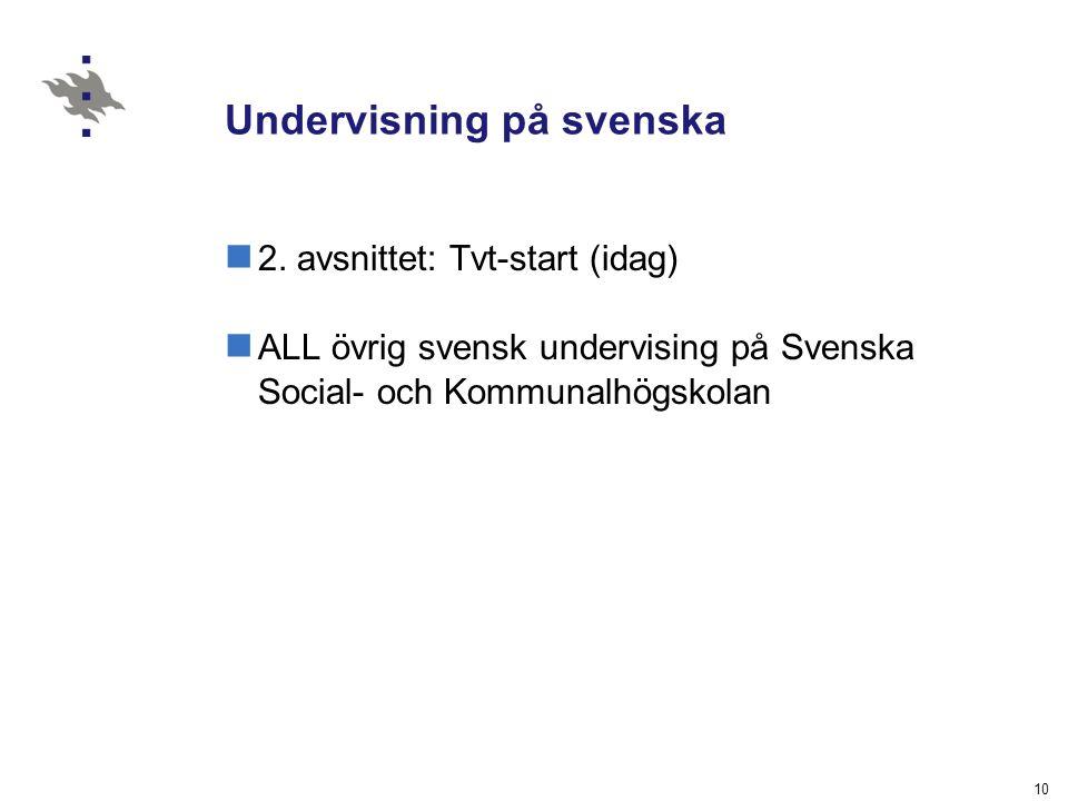 Undervisning på svenska