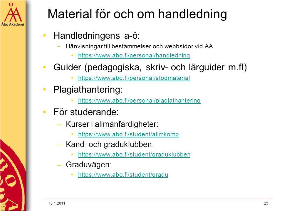 Material för och om handledning