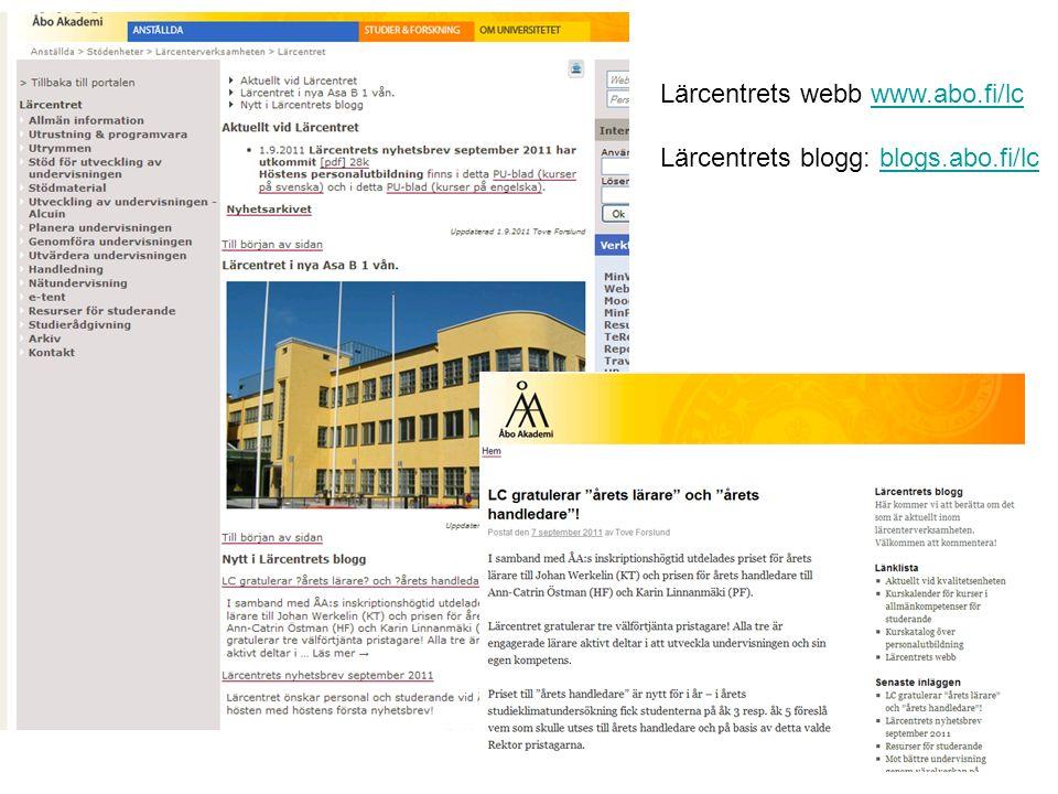 Lärcentrets webb www.abo.fi/lc