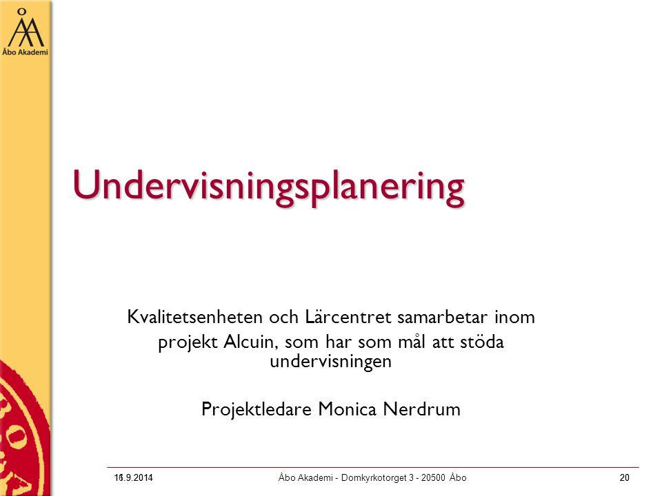 Undervisningsplanering