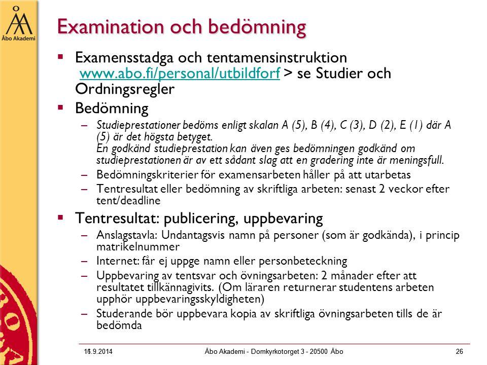 Examination och bedömning