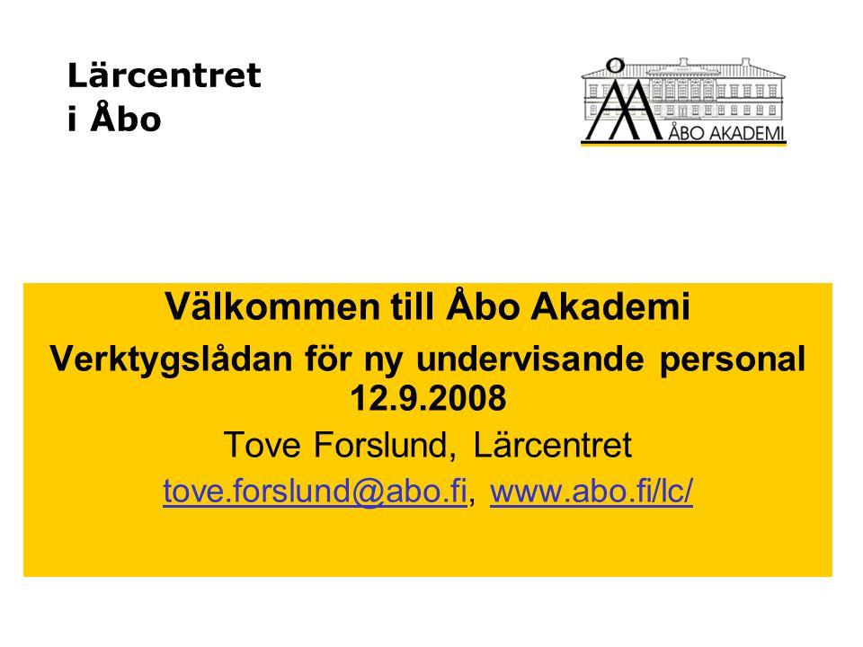 Välkommen till Åbo Akademi