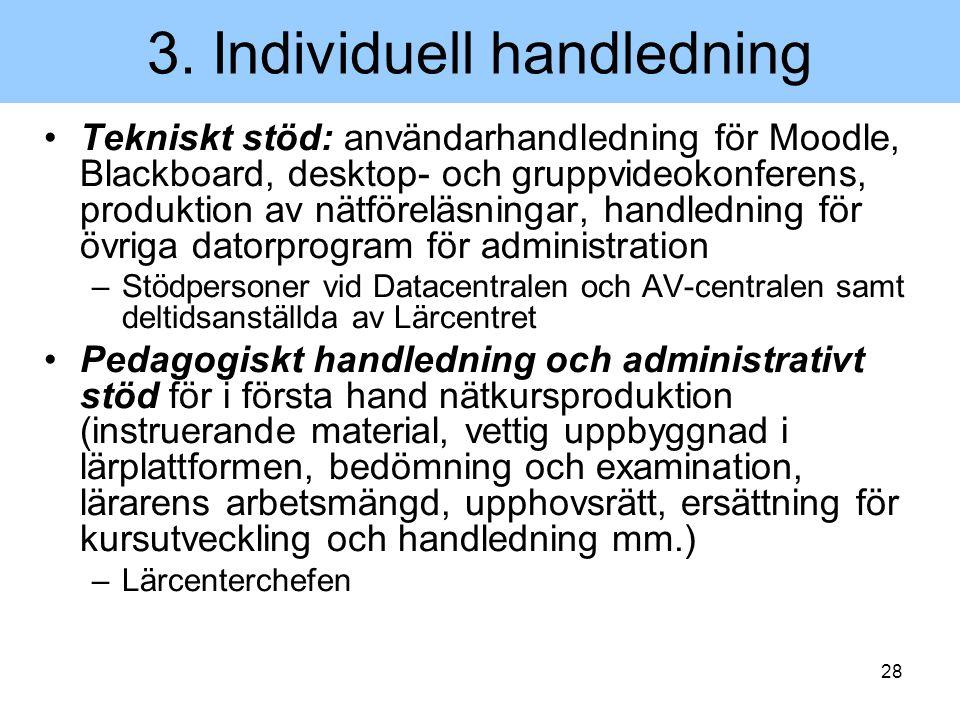 3. Individuell handledning