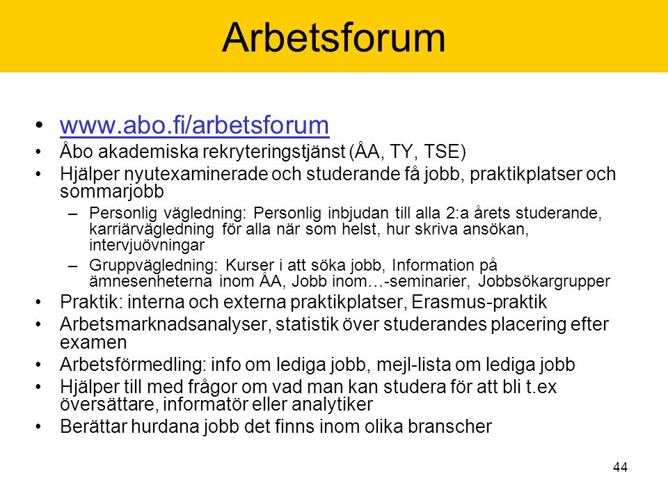 Arbetsforum www.abo.fi/arbetsforum