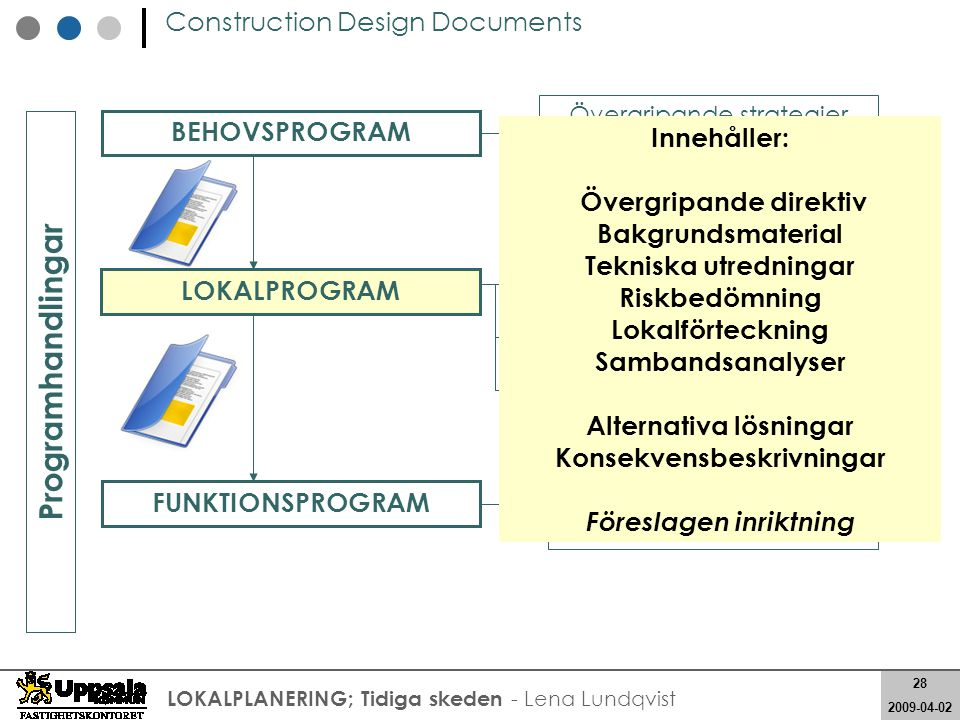 Övergripande direktiv Konsekvensbeskrivningar Föreslagen inriktning