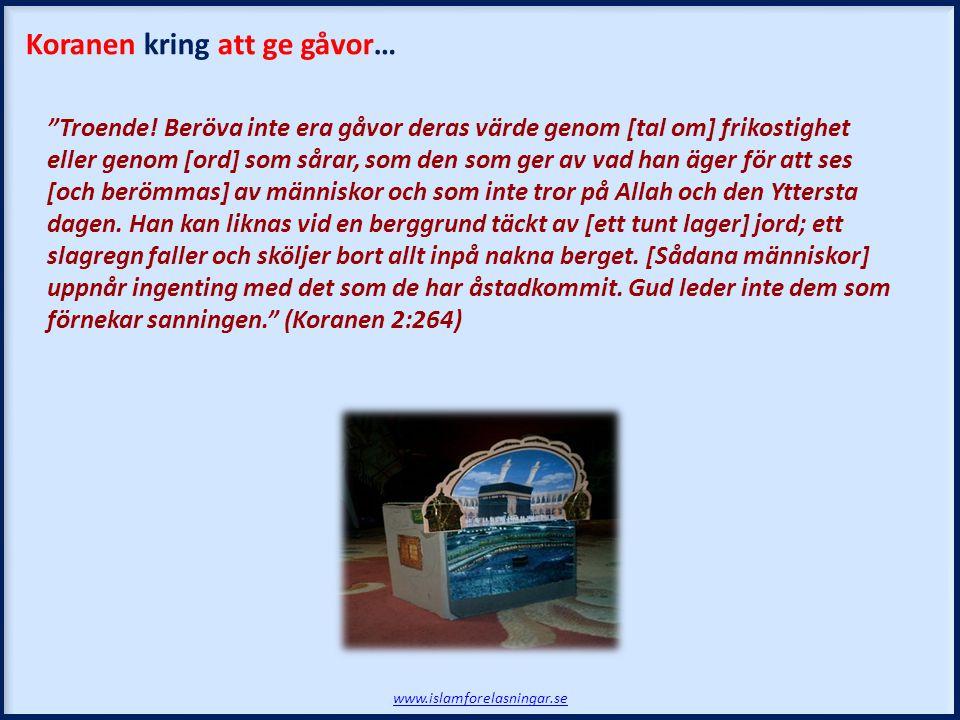 Koranen kring att ge gåvor…