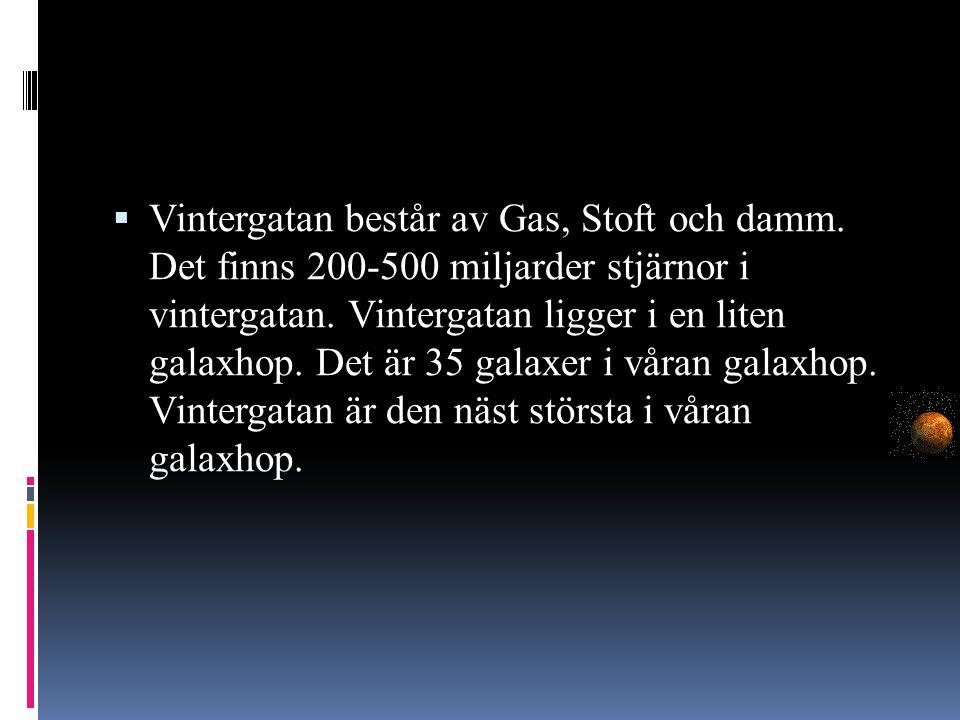 Vintergatan består av Gas, Stoft och damm