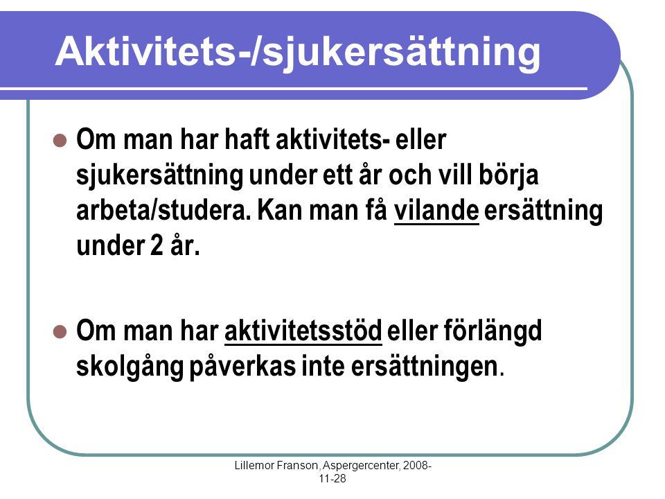 Aktivitets-/sjukersättning