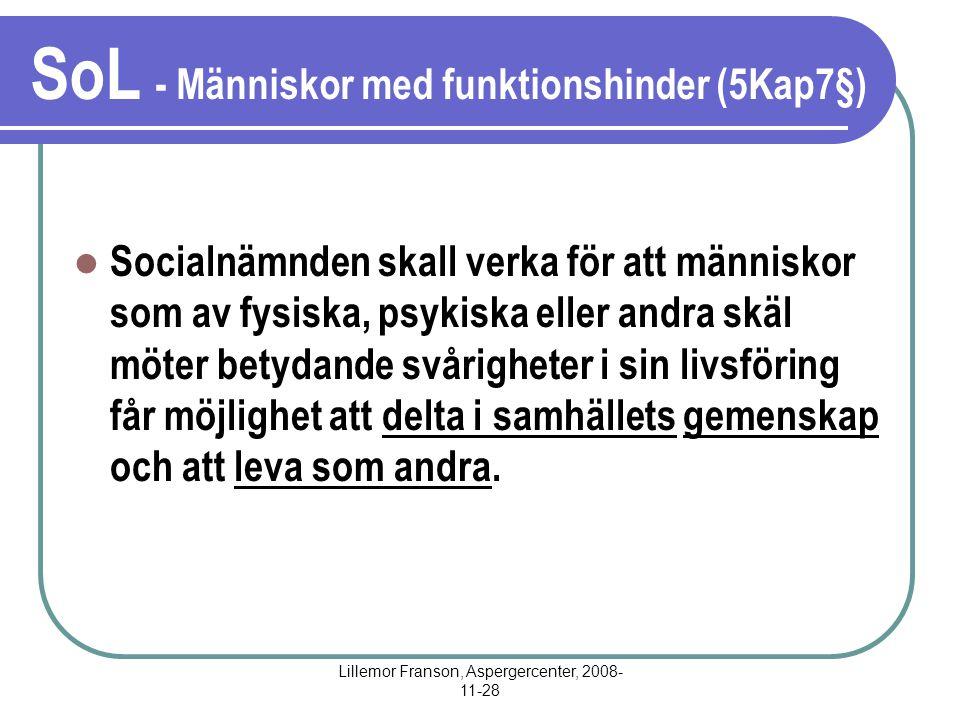 SoL - Människor med funktionshinder (5Kap7§)
