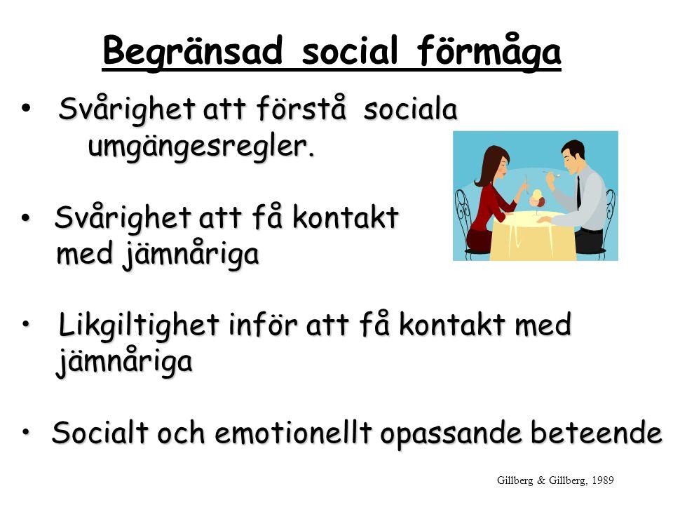 Begränsad social förmåga