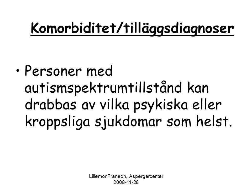 Komorbiditet/tilläggsdiagnoser