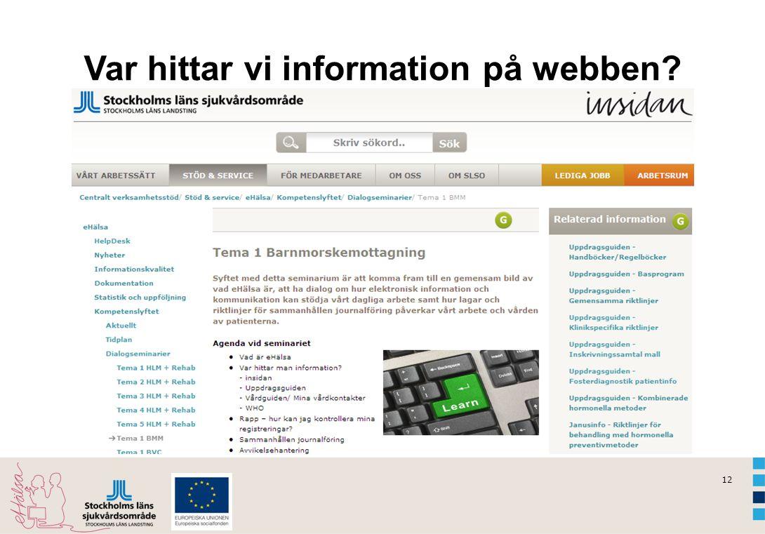 Var hittar vi information på webben