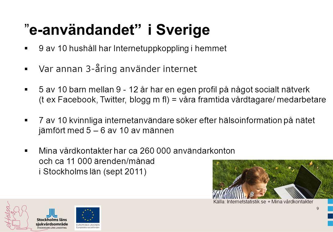 e-användandet i Sverige