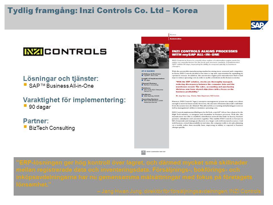 Tydlig framgång: Inzi Controls Co. Ltd – Korea