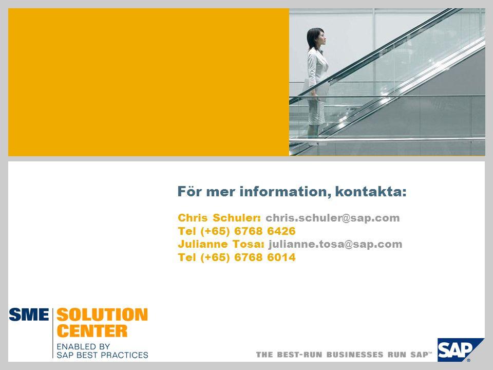 För mer information, kontakta: