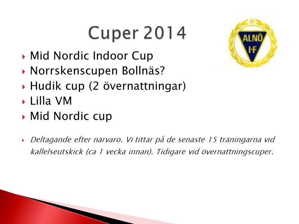 Cuper 2014 Mid Nordic Indoor Cup Norrskenscupen Bollnäs