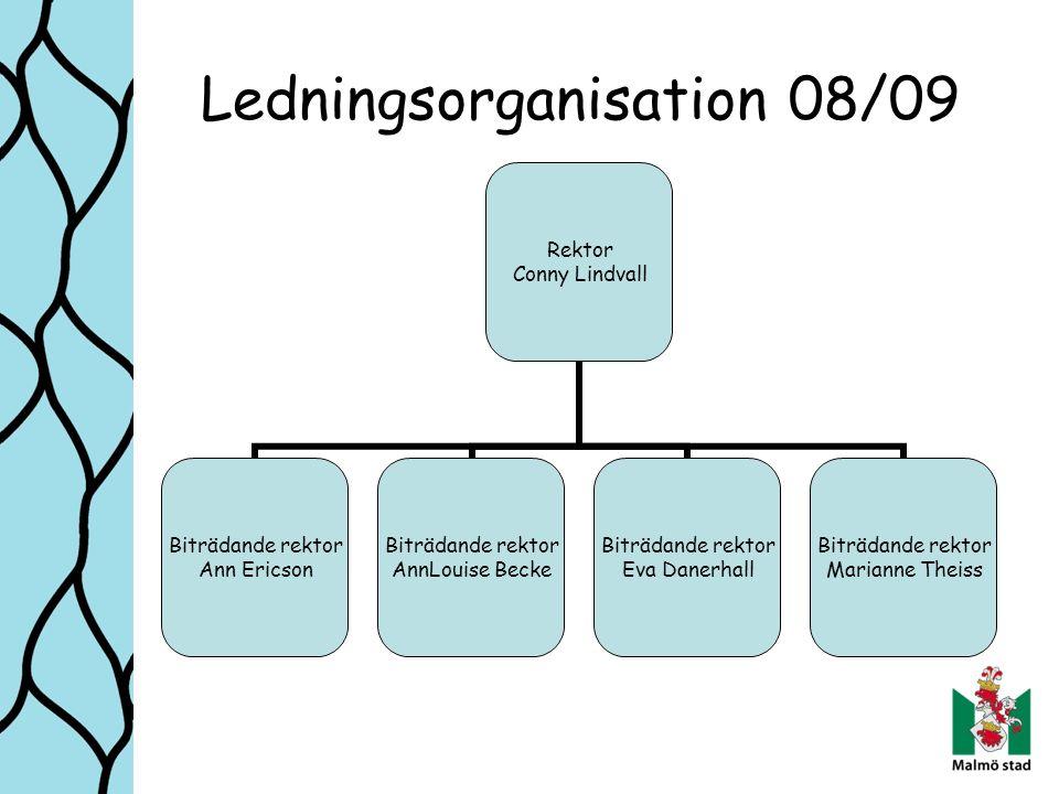 Ledningsorganisation 08/09