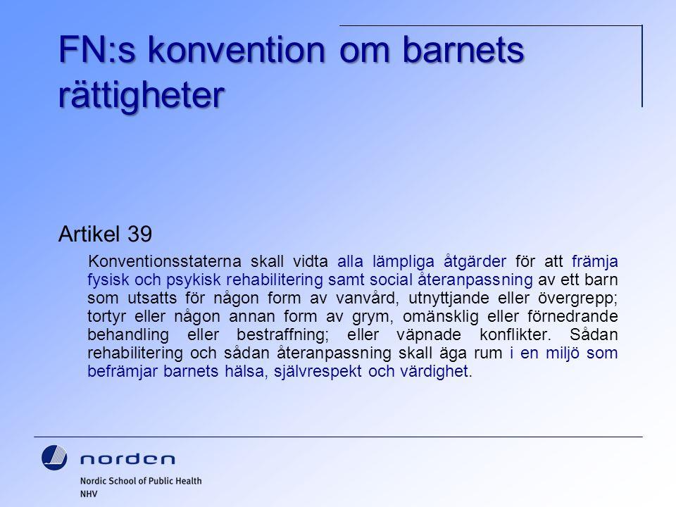 FN:s konvention om barnets rättigheter