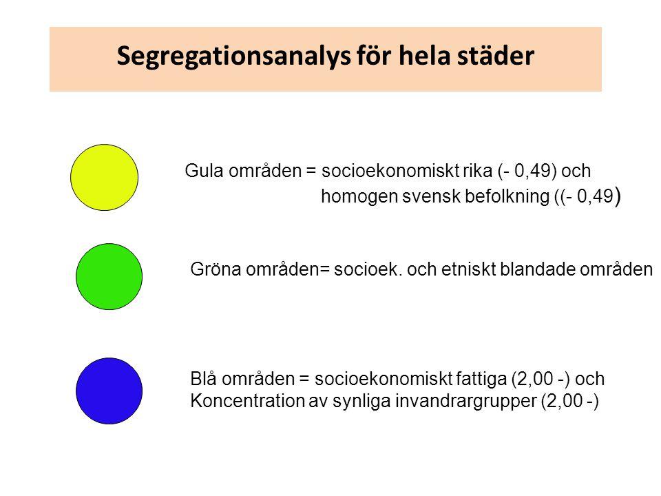 Segregationsanalys för hela städer