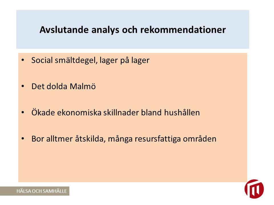 Avslutande analys och rekommendationer