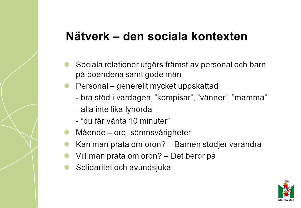 Nätverk – den sociala kontexten
