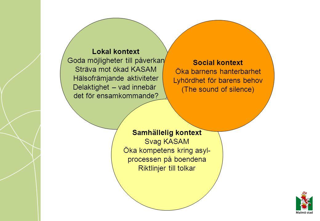 Lokal kontext Social kontext Samhällelig kontext