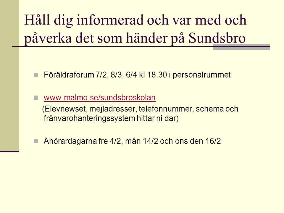Håll dig informerad och var med och påverka det som händer på Sundsbro