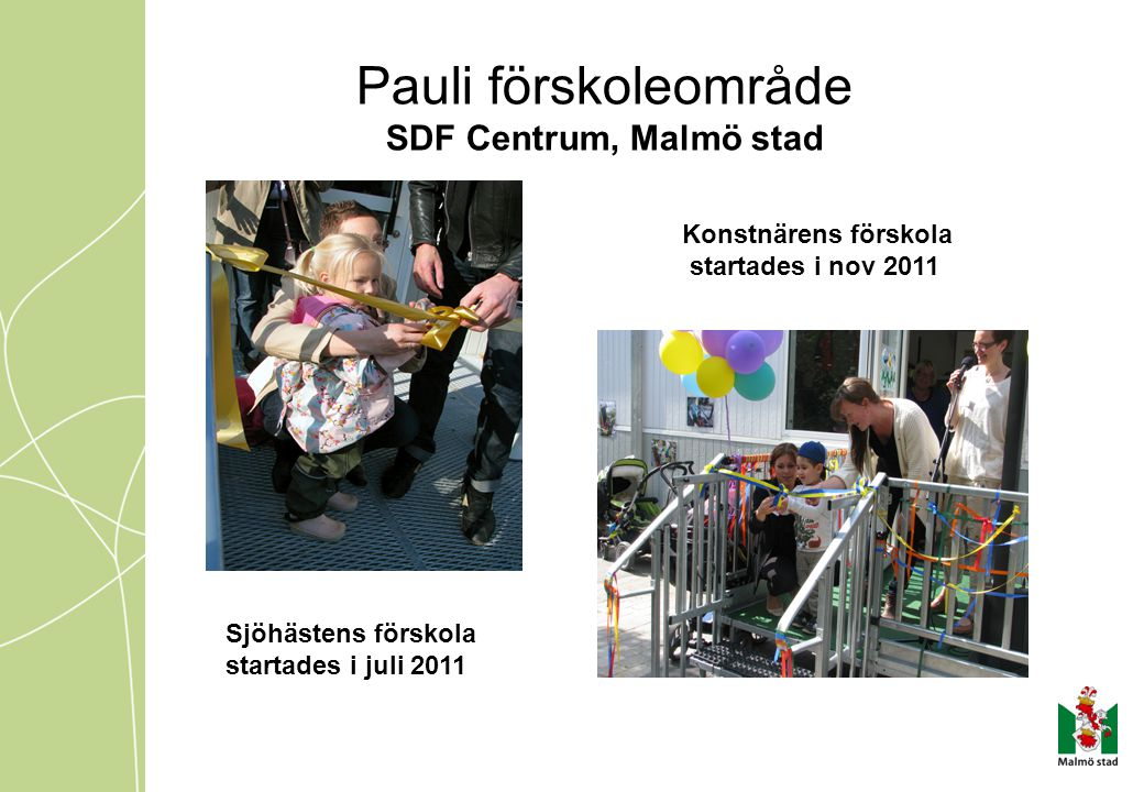 Pauli förskoleområde SDF Centrum, Malmö stad Konstnärens förskola