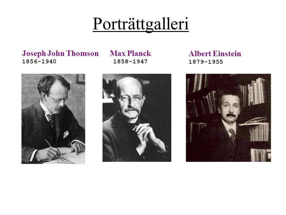 Porträttgalleri Joseph John Thomson Max Planck Albert Einstein