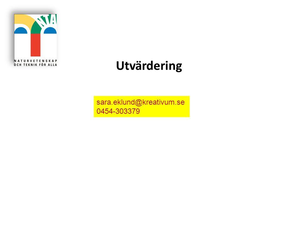 Utvärdering sara.eklund@kreativum.se 0454-303379