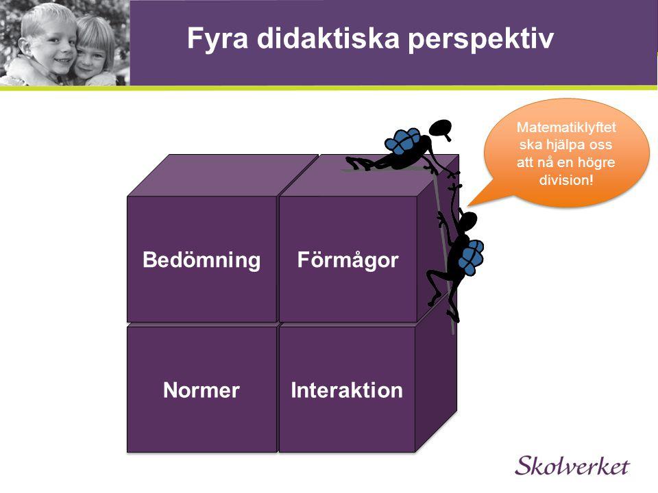 Fyra didaktiska perspektiv