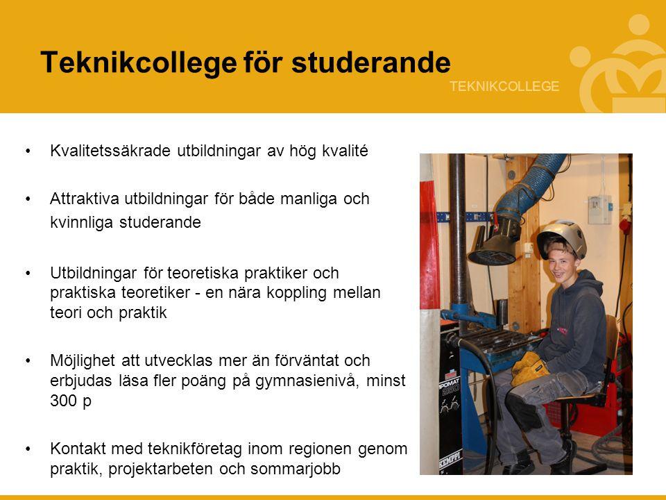 Teknikcollege för studerande