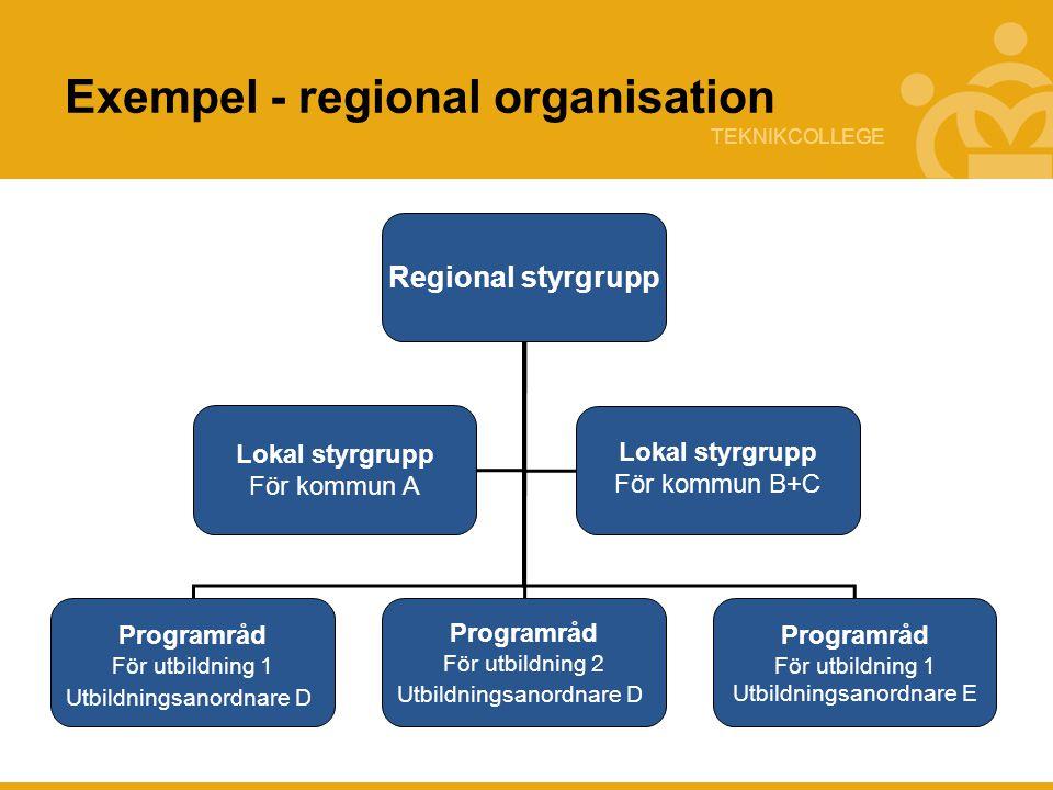 Exempel - regional organisation