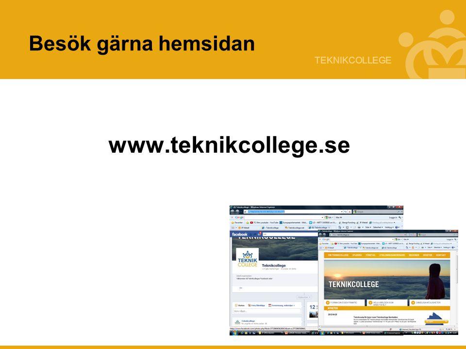 Besök gärna hemsidan www.teknikcollege.se