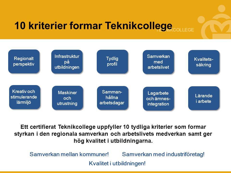 10 kriterier formar Teknikcollege