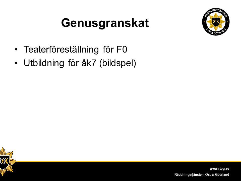 Genusgranskat Teaterföreställning för F0 Utbildning för åk7 (bildspel)