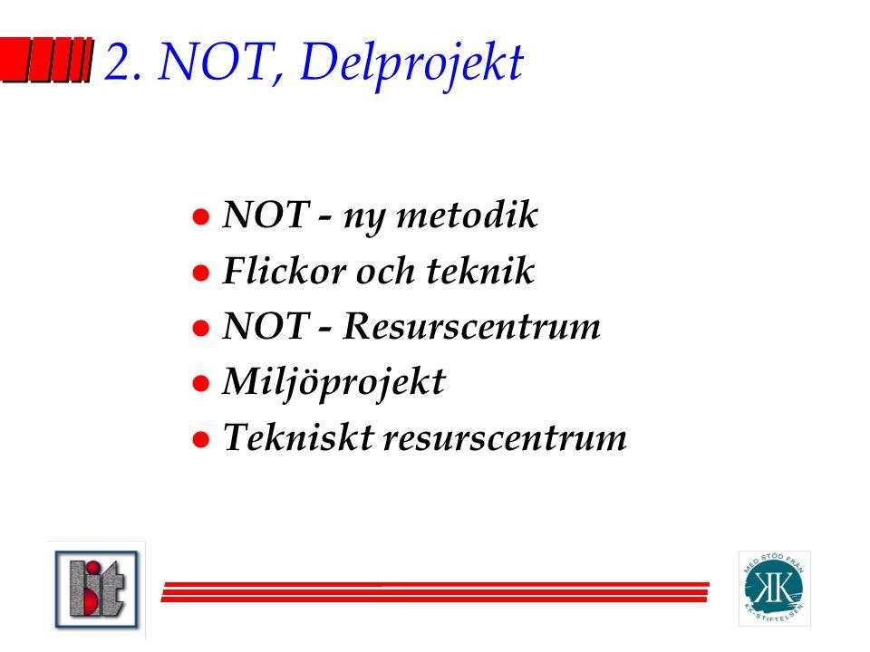 2. NOT, Delprojekt NOT - ny metodik Flickor och teknik