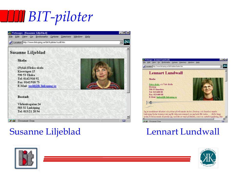 BIT-piloter Susanne Liljeblad Lennart Lundwall